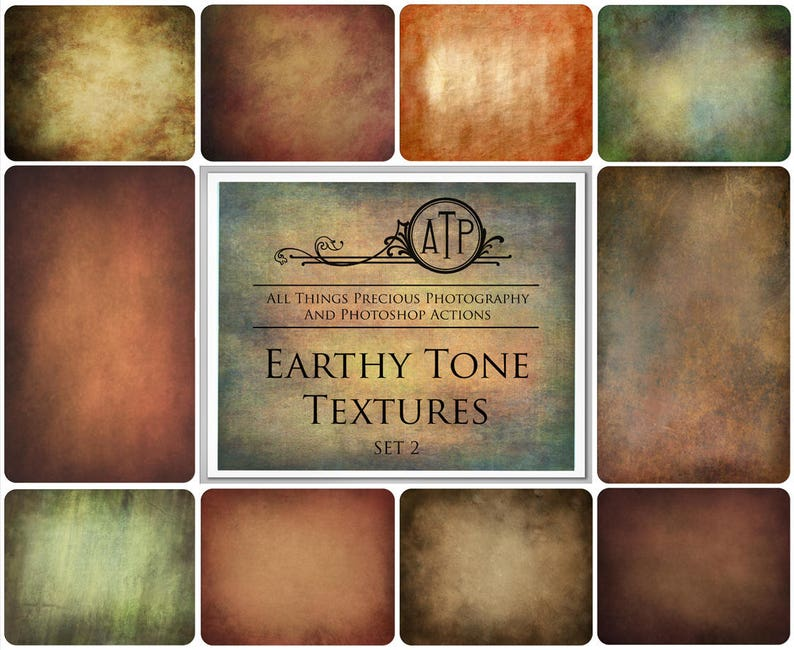 10 Fine Art TEXTURES  EARTHY TONE Set 2 / Photography image 0
