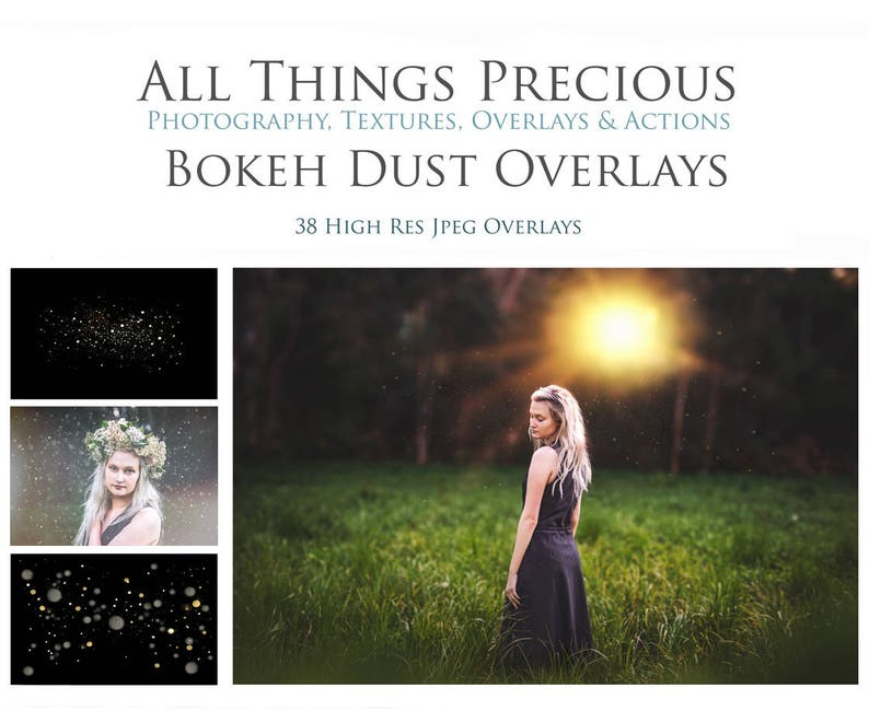 38 Digital Png BOKEH DUST or SNOW Overlays / Photography image 0