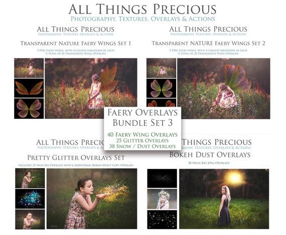 103 Fairy wings Overlays Bundle SET 3  / Glitter Overlays