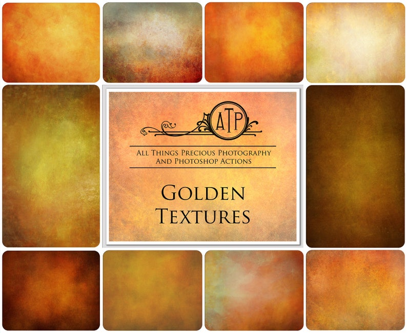 10 Fine Art TEXTURES  GOLDEN Set 1 / Photography High Res image 0