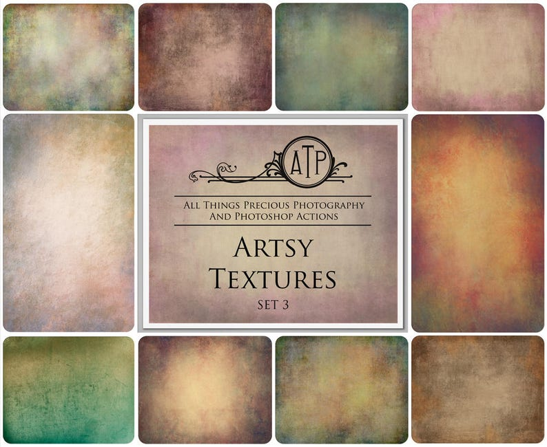 10 Fine Art TEXTURES  ARTSY Set 3 / Overlays Photography image 0