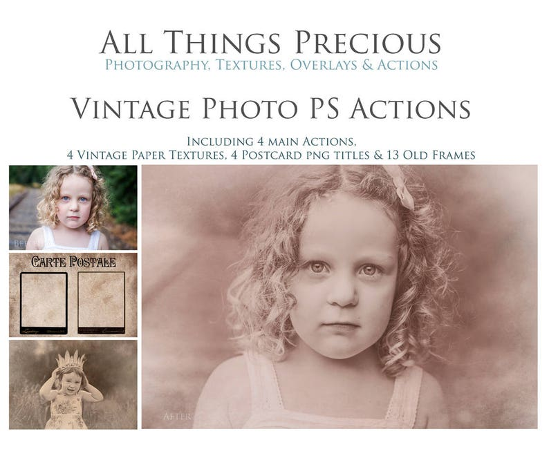 7 Vintage Actions 24 Vintage frames papers stamps and image 0