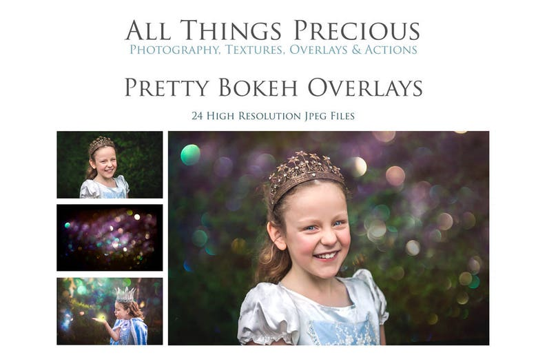 24 High Res Pretty BOKEH OVERLAYS / Digital Photography image 0