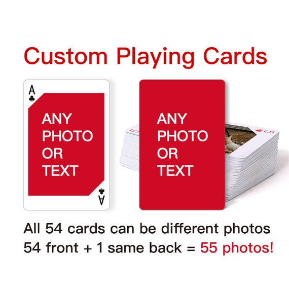 Custom Playing Cards Personalized Playing Cards Deck Of Etsy
