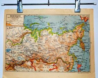 Antique spanish World Map 1940 Spanish Double Hemisphere | Etsy