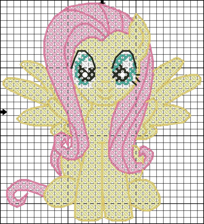 MLP My Little Pony cross stitch chart pattern pack Applejack Fluttershy Pinkie Pie Rainbow Dash Rarity Twilight Sparkle Mane six