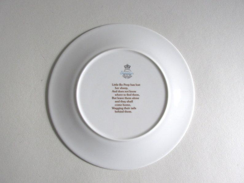 circa 1980s Vintage Little Bo Peep Decorative Plate by /'Edwardian Fine China/' 20cm 7 910