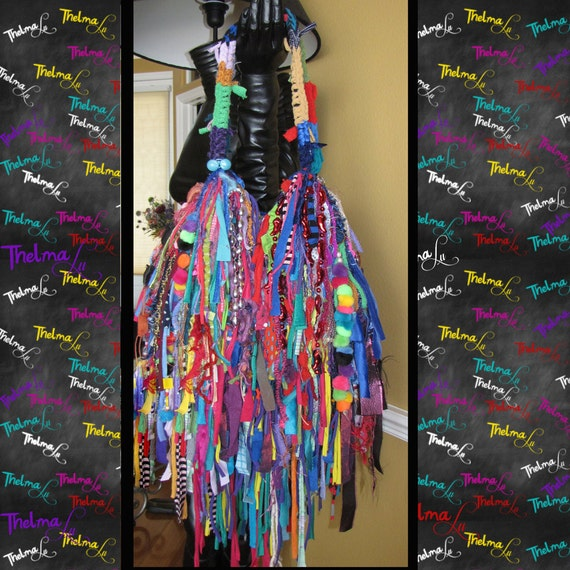 Wild Fringe Bag,Crazy Fun Tote,Custom made Purse,Fringe Handbag,Rag Bag,