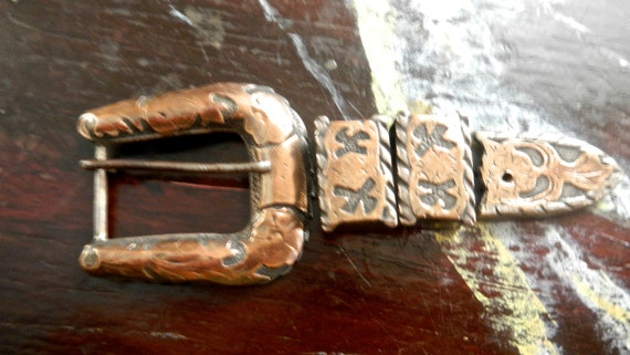 1930s,40s, western Mexican silver and gold belt bu