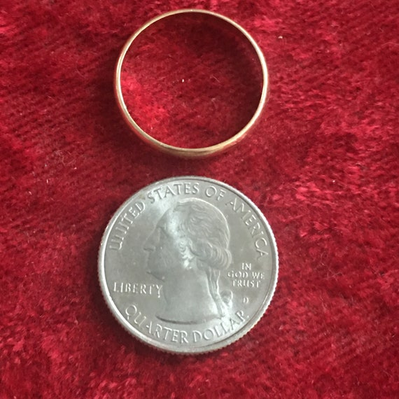 Wedding band, marked 14K TW in oval ,circa 1960s