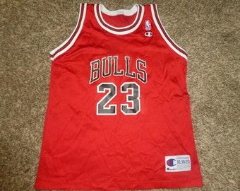 6a0643bd8ab9 Vtg Michael Jordan Chicago Bulls NBA Champion Jersey Sz Youth XL 18-20