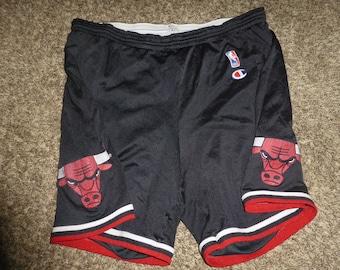 6a5c9736751d39 Vtg Chicago Bulls NBA Champion Jersey Shorts Sz Men s L 36-38 Michael Jordan