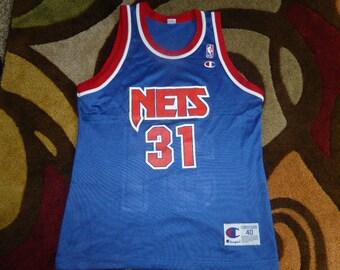 ac2edce64 Vtg Ed O Bannon New Jersey Nets NBA Champion Jersey Sz Men s 40 M