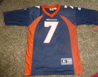 Vtg John Elway Denver Broncos NFL Starter Jersey Sz Youth M 10-12 458850cb9