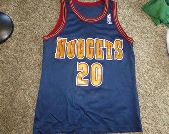 5fc9a96be Vtg Laphonso Ellis Denver Nuggets NBA Champion Jersey Sz Men s 40 M