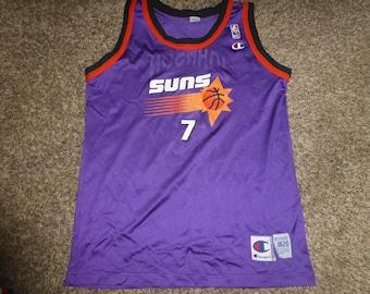 9a4e7e869 Vtg Kevin Johnson Phoenix Suns Champion NBA Jersey Sz Youth XL 18-20