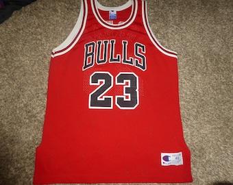 Vtg Michael Jordan Sewn Authentic Chicago Bulls Champion NBA Jersey Sz  Men s 48 XL 5eb4898b9
