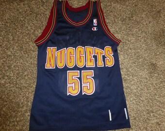 d376aa0042d Vtg Dikembe Mutombo Denver Nuggets NBA Champion Jersey Sz Men s 36 S