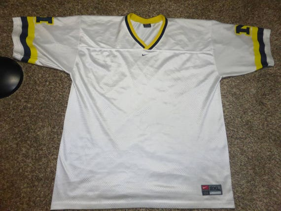 best cheap a05c6 ad28a Vtg BLANK Michigan Wolverines Nike NCAA Football Jersey Sz Men's 2XL Tom  Brady