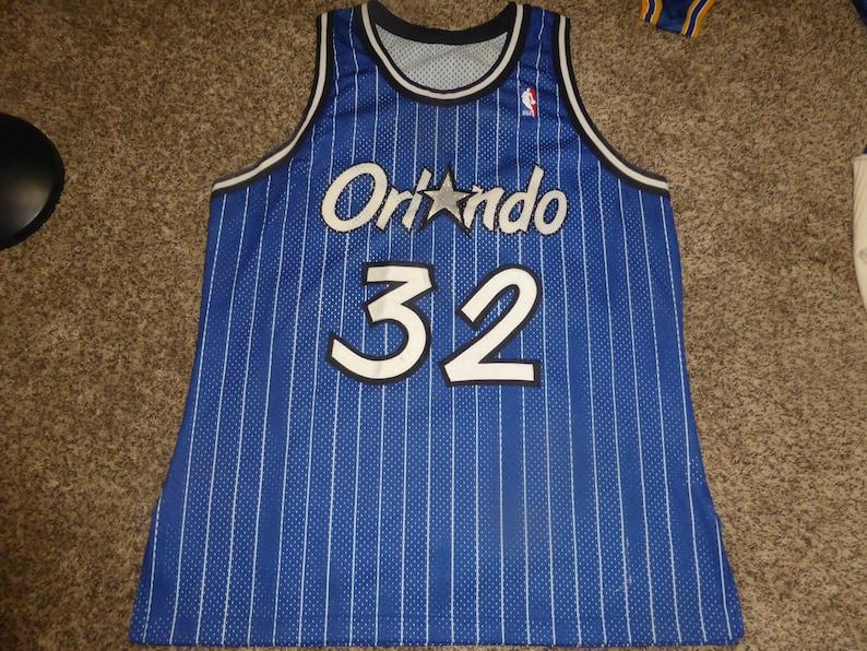 best website ce8ee c3dcd Vtg Authentic SEWN Shaquille O'neal Shaq NBA Champion Jersey Sz Men's 48 XL