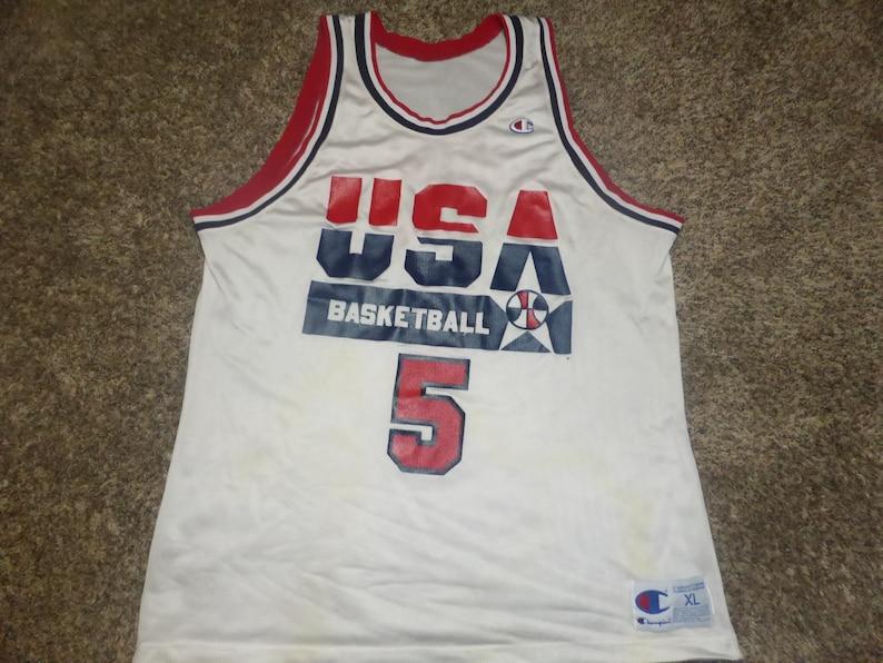 pretty nice 940d1 c60fb Vtg David Robinson USA Dream Team Olympics Champion Jersey Sz Men's 48 XL  Spurs