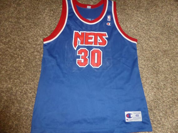 Vtg Kerry Kittles New Jersey Nets NBA Champion Jersey Sz  9fa96c20e