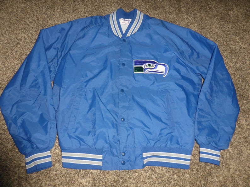 a7a047ae Vtg Seattle Seahawks NFL Chalk Line Satin Jacket Sz Men's XL SEWN