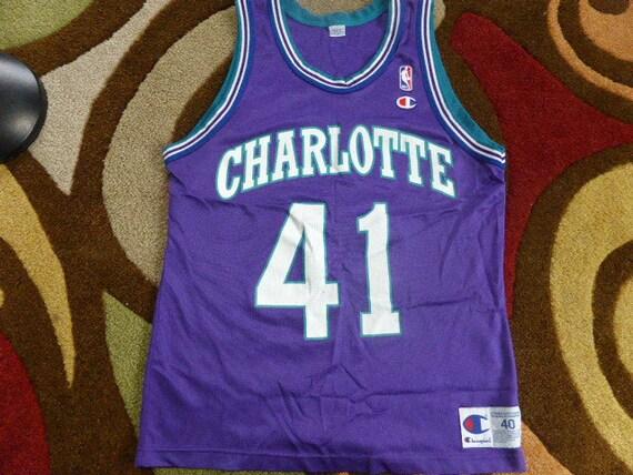106529689de Vtg Glenn Rice Charlotte Hornets NBA Champion Jersey Sz
