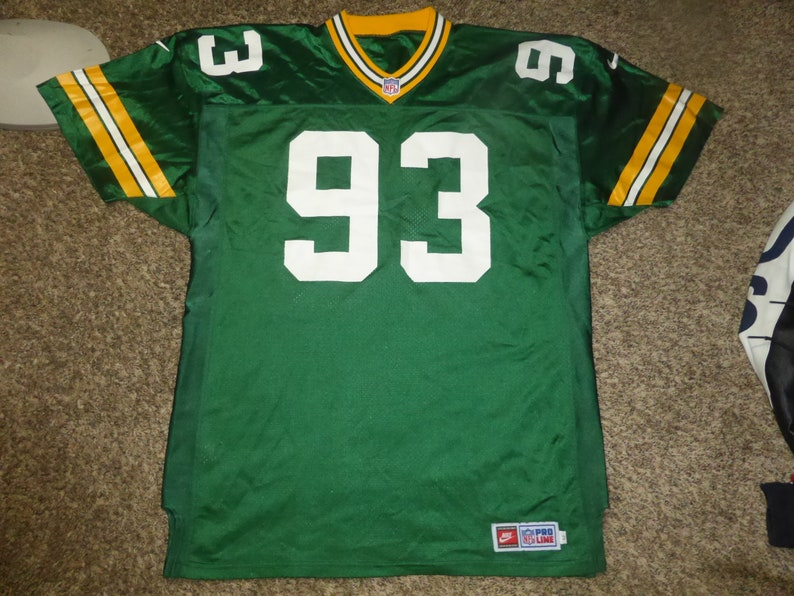 buy online b4b88 41a87 Vtg Gilbert Brown Nike Pro Line Green Bay Packers NFL Jersey Sz Men's 52