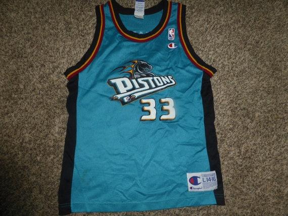 25fe52a19 Vtg Grant Hill Detroit Pistons NBA Champion Jersey Sz Youth L 14-16