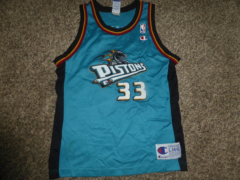 3b96d53daa6d Vtg Grant Hill Detroit Pistons NBA Champion Jersey Sz Youth L