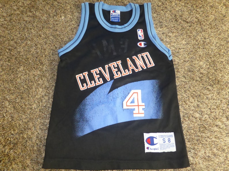 check out 16c84 1a6b1 Vtg Shawn Kemp Seattle Cleveland Cavs Cavaliers Champion NBA Jersey Sz  Youth S 8