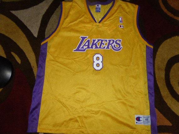 c9e18359d4c Vtg Kobe Bryant Los Angeles Lakers NBA Champion Jersey Sz