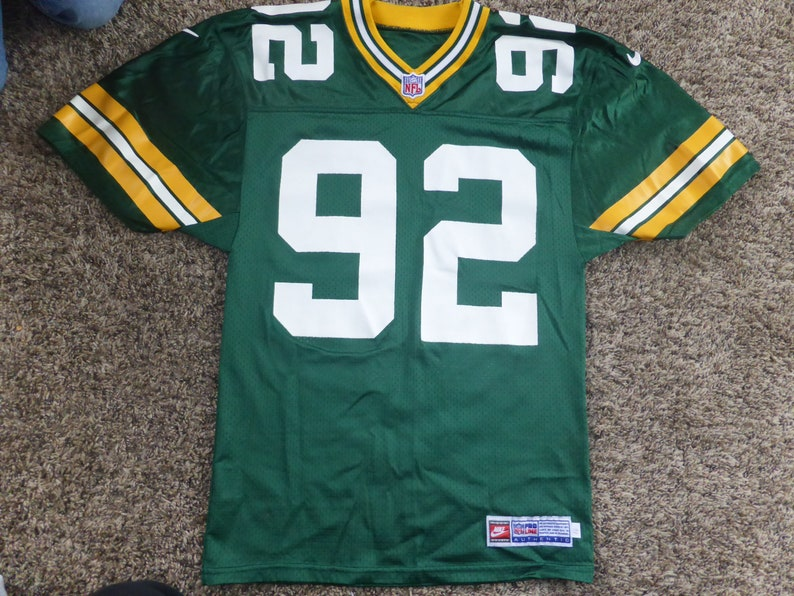 9f5f4e77 Vtg Reggie White Nike Pro Line Cut Green Bay Packers NFL Jersey Sz Men's S  16