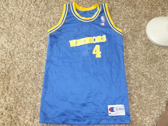 new style ac5c5 c162b Vtg Chris Webber Golden State Warriors NBA Champion Jersey Sz Youth XL 18-20