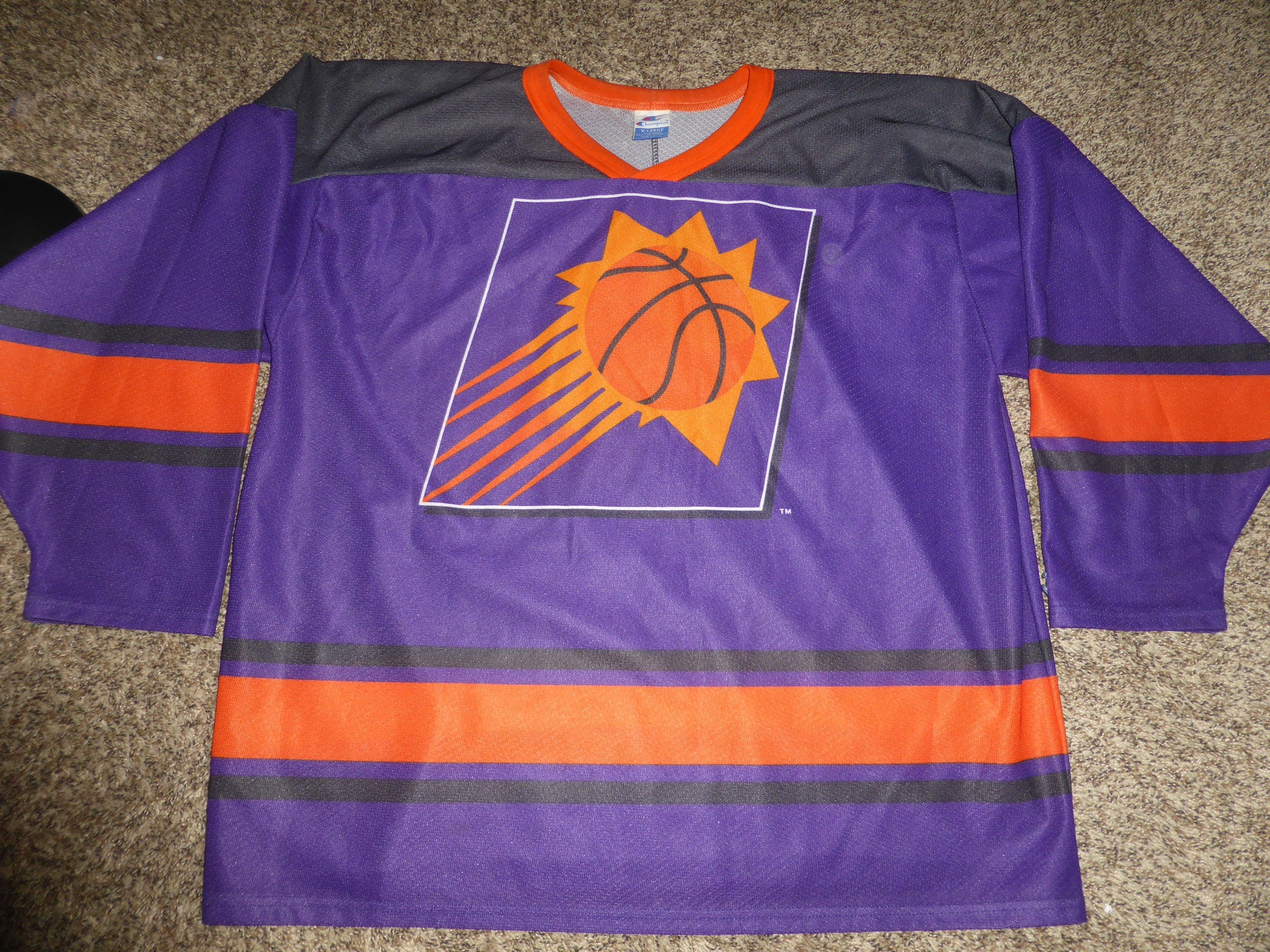 9ecbddd1c57 Vtg Phoenix Suns NBA Champion Hockey Jersey Sz Men s XL