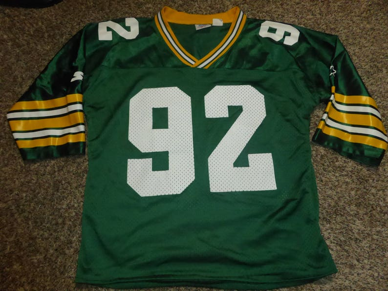 10db9889 Vtg Reggie White Green Bay Packers NFL Starter Jersey Sz Men's S
