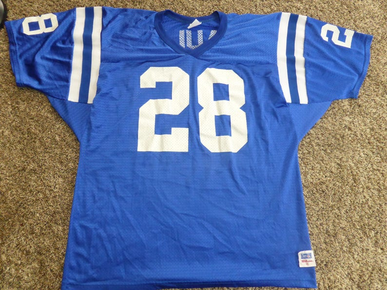 new style c7faf 22622 Vtg Marshall Faulk Indianapolis Colts NFL Pro Cut Wilson Jersey Sz Men's XL