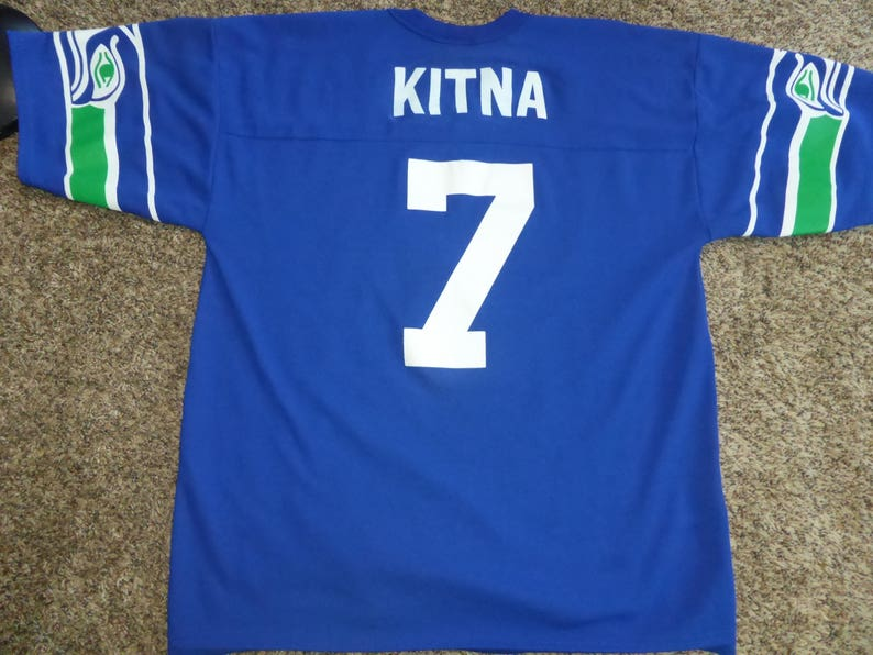 Vtg Jon Kitna Seattle Seahawks NFL Logo Athletic Jersey Sz | Etsy