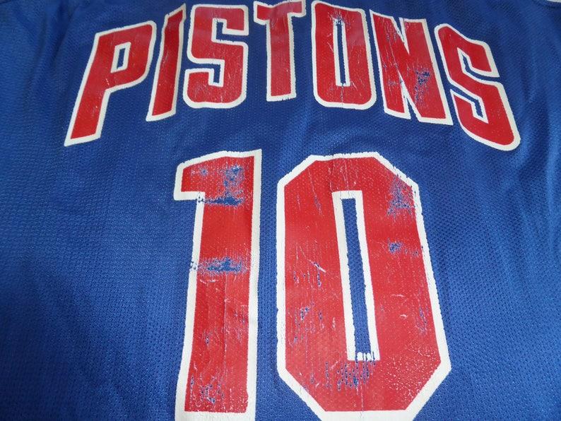 2c62d1f15ace Vtg RARE Dennis Rodman Detroit Pistons NBA Champion Jersey Sz