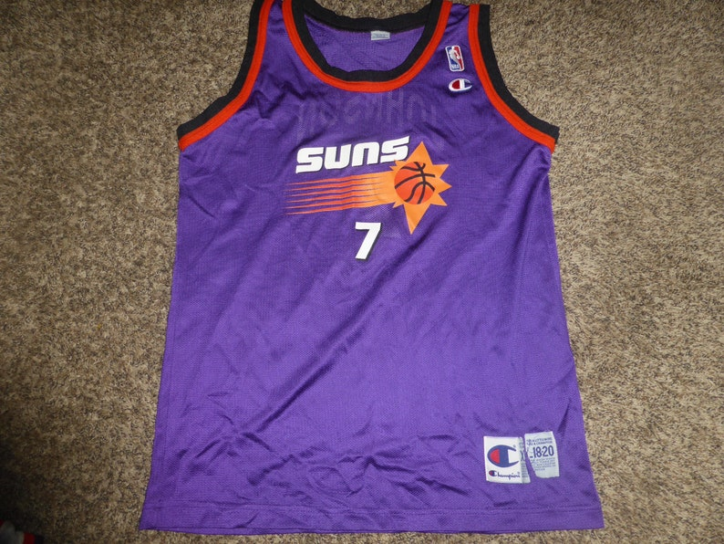 c5cbad679 Vtg Kevin Johnson Phoenix Suns Champion NBA Jersey Sz Youth XL