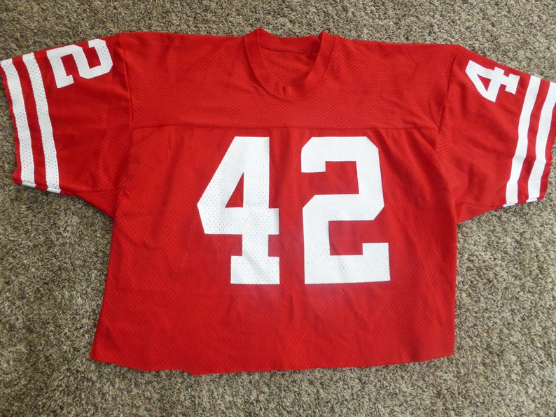 new styles daf0e 75440 Vtg Ronnie Lott San Fransisco 49ers NFL Sand-Knit MacGregor Jersey Sz Men's  M - Cut short