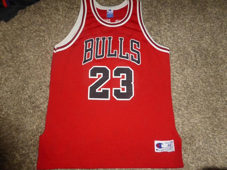 8251d132afc53e Vtg Michael Jordan Sewn Authentic Chicago Bulls Champion NBA