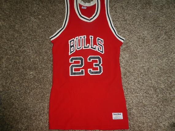 sale retailer d7794 72998 Vtg Michael Jordan Chicago Bulls Sand Knit MacGregor NBA Jersey Sz Men's S
