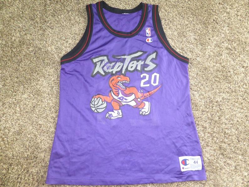 28ff03944fe Vtg Damon Stoudamire Toronto Raptors NBA Champion Jersey Sz | Etsy