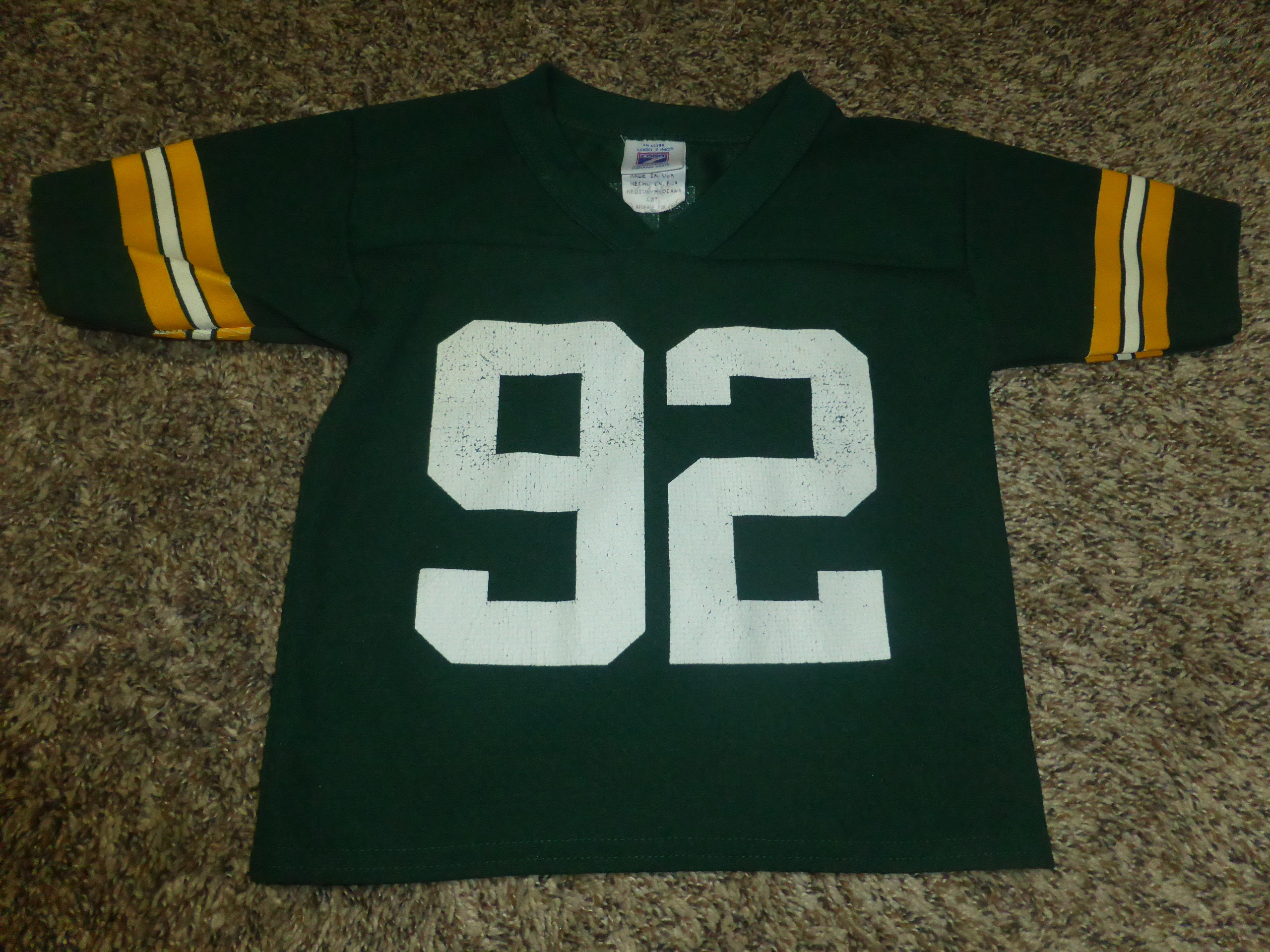 18742624 Vtg Reggie White Green Bay Packers NFL Logo 7 Toddler Jersey Sz Toddler 3T
