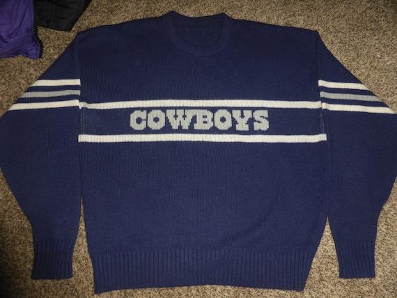 the best attitude 0c16c dce38 Vtg 80's Cliff Engle Dallas Cowboys NFL Wool Sweater Sweatshirt Sz Men's XL