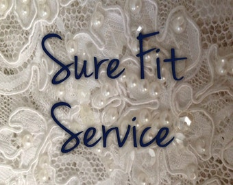 Bridal Shoe Sure Fit Service only with purchase of a bridal shoe
