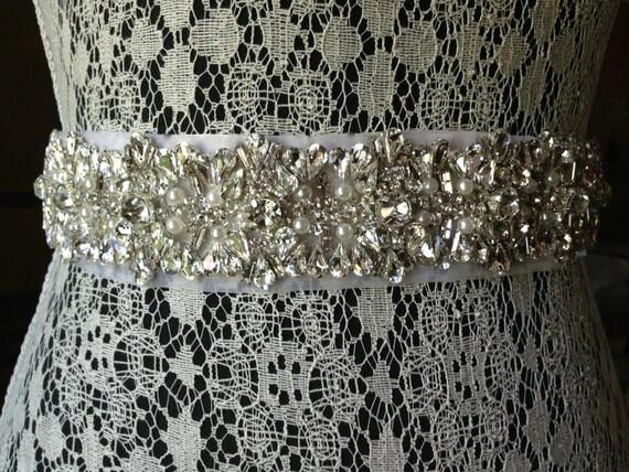 Ceinture ceinture strass personnalisé cristaux perles   Etsy 334c2e766bf