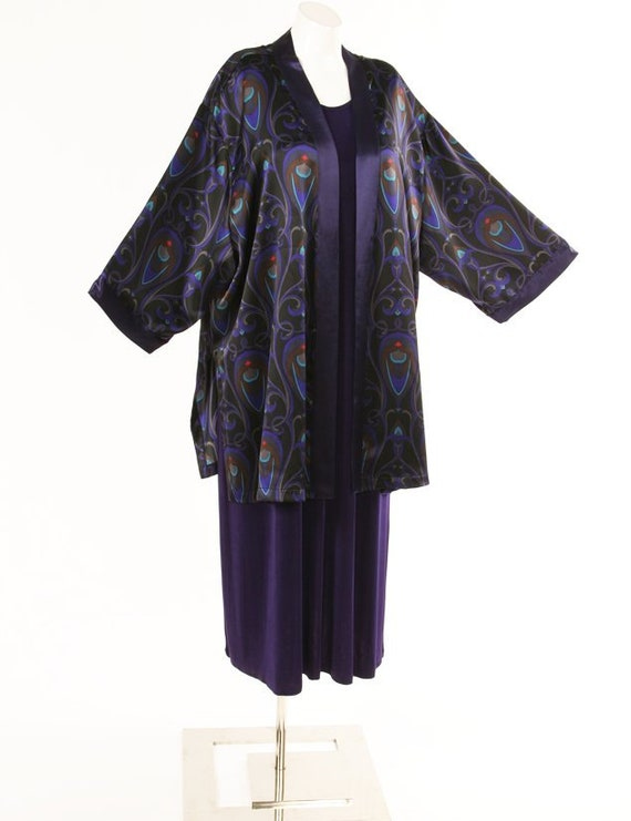 Plus Size Special Occasion Jacket Dress Purple Black Red Etsy